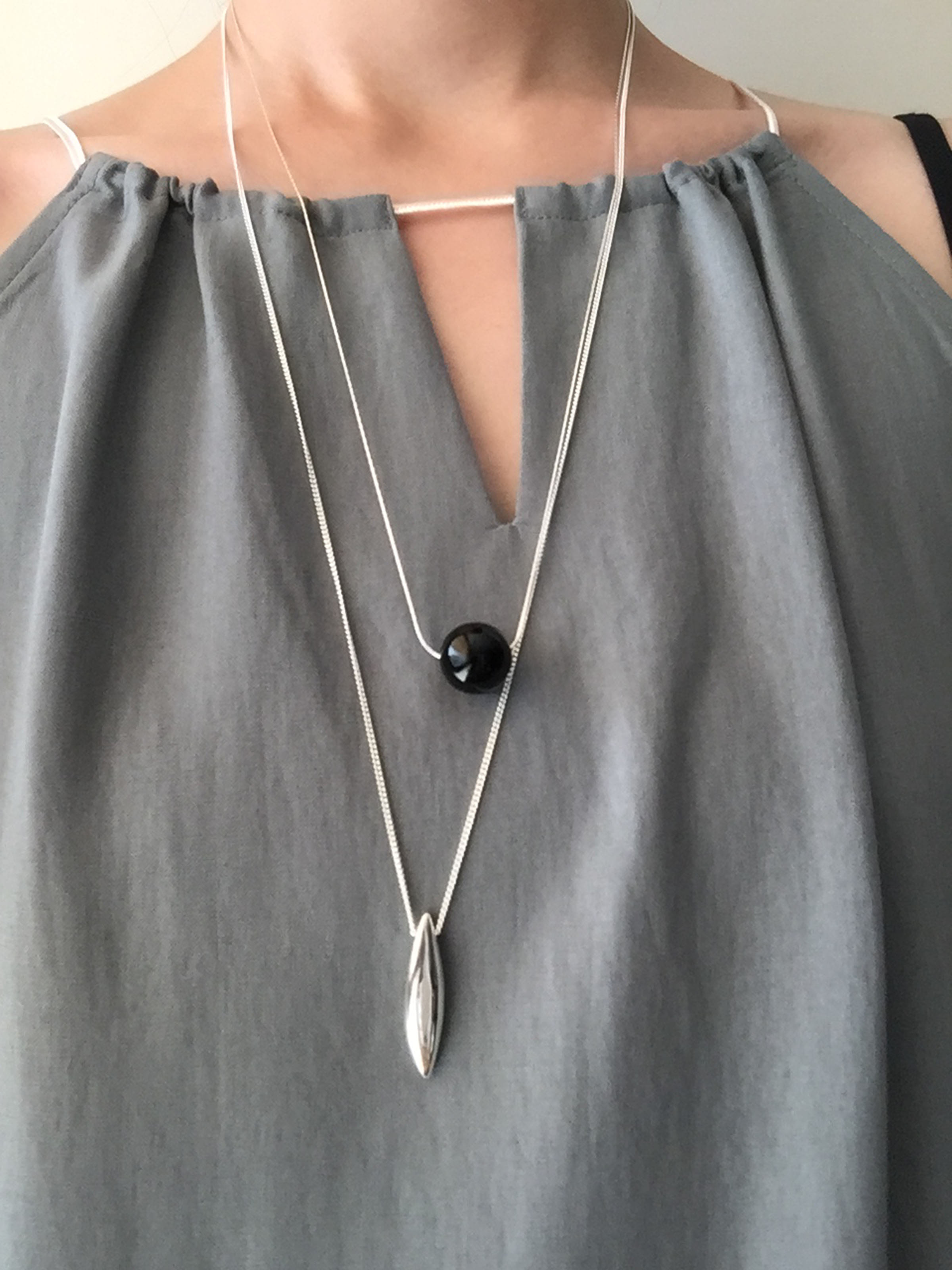 # 032 Black Onyx Necklace