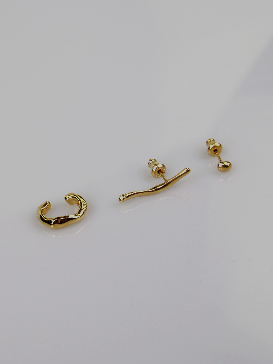 Wave Earrings N Cuff SET (3 pcs)